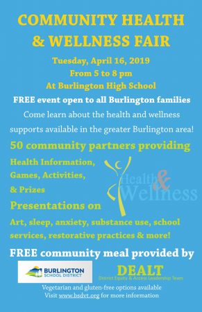 Community Health and Wellness Fair Poster